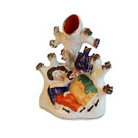 Early 19th Century Staffordshire Spill Vase With Lovers
