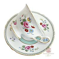 Shelley Rose and Red Tea Cup and Saucer Set