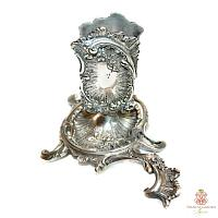 Antique Silver Plated Match Holder