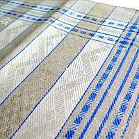 Antique French Blue Art Nouveau Estate Heirloom Tea Towel Unused