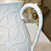 Mid 19th Century Smear Glazed Calla Lilies Pitcher