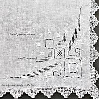 Fine Hand Embroidered Linen Whitework Handkerchief