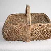 Antique 19th Century Hand Woven Rib Type Splint Basket