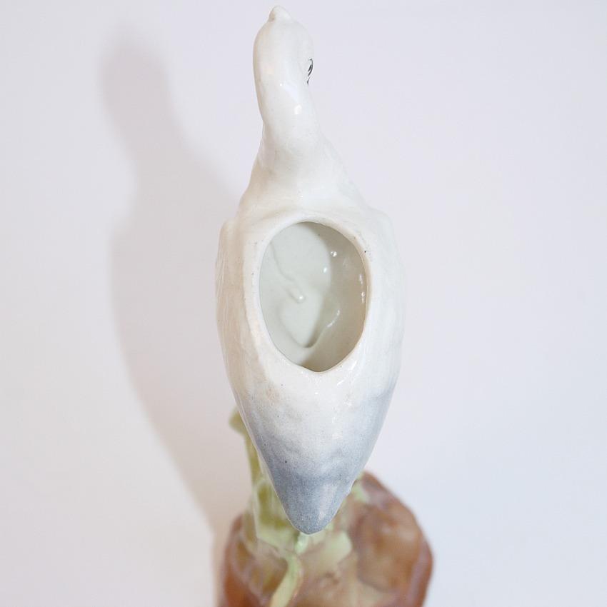 Vintage Pottery Stork Vase