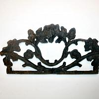 Antique Cast Iron Gilded Architectural Fragment Medium