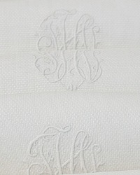Antique Pique White Guest Towels Set of 5 FHI