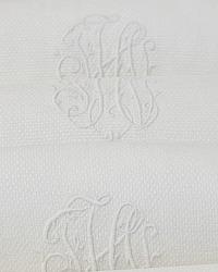 Antique Pique White Guest Towel F H I