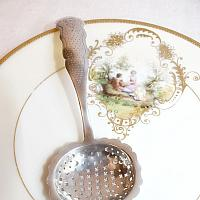 Antique Sterling Silver Dutch Sugar Sifter Spoon