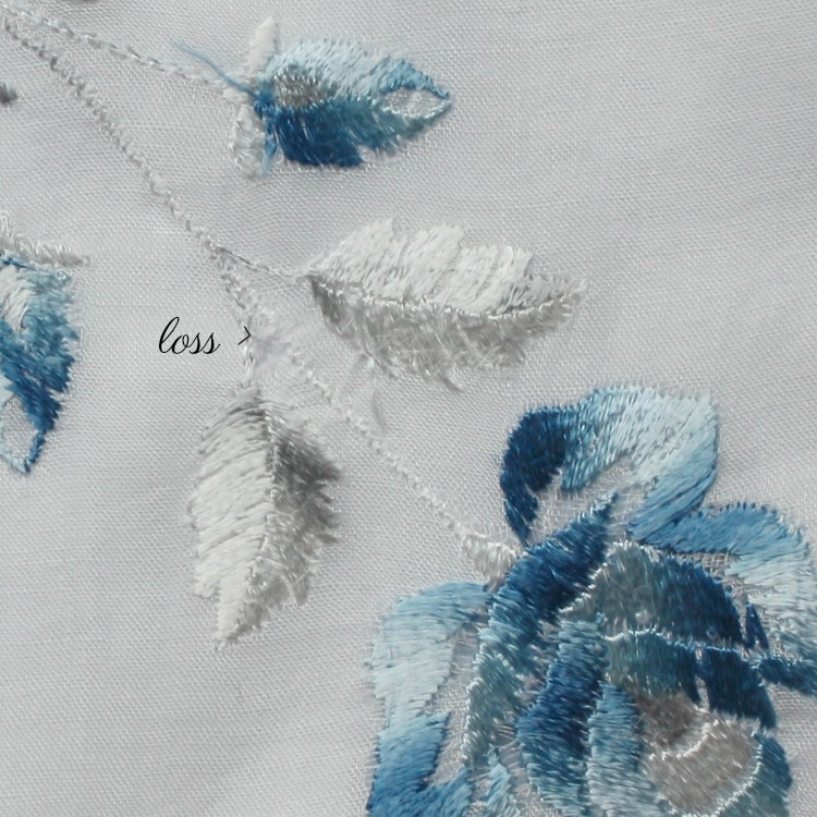 Antique Society Silk Blue Rose Handkerchief