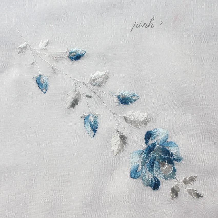 Antique Society Silk Blue Rose Handkerchief