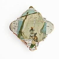 Antique Souvenir Seashell Work Pincushion