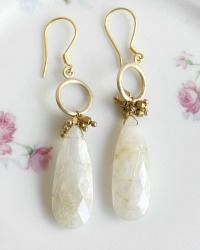 Mystere Moon Silverite Briolette Earrings