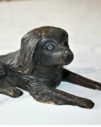 Antique Folk Art Hand Carved Wooden Dog
