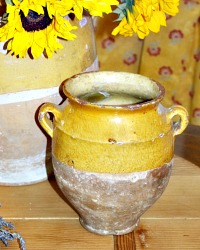 Antique French Provencal Confit d'Oie Pot Medium