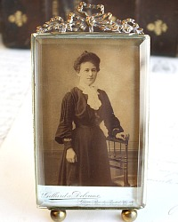 19th Century French Gilt Photograph Frame with Orginal Glass