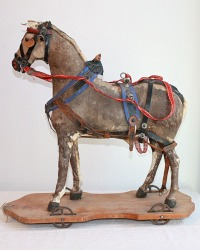 Beautiful Early Little Horse Pull Toy 19th Century