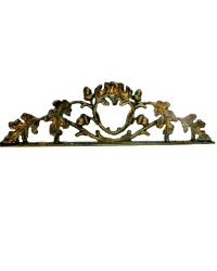 Antique Cast Iron Gilded Architectural Fragment