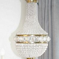 Antique French Empire Crystal Basket Chandelier