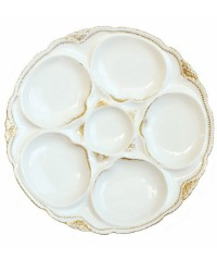 Antique French Limoges White & Gold Oyster Plate