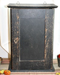 Antique Wood Home Pharmacy Cabinet Black