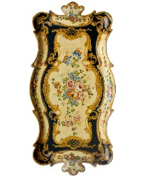 Exceptional Antique Florentine Hand Painted Tray