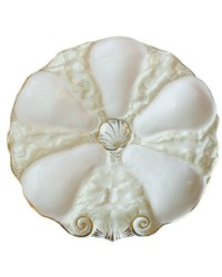 Neptune and Mermaid 5 Well Oyster Plate Soft Pink
