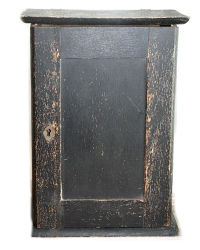 Antique Wood Home Pharmacy Cabinet Black Paint