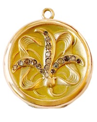 Antique Victorian Lily Locket