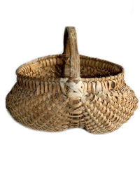 Antique 19th Century Hand Woven Buttocks Splint Basket