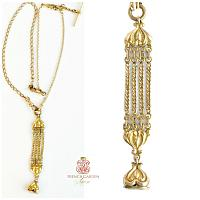Antique Victorian Gold Vest Fob Y Necklace Heart M B