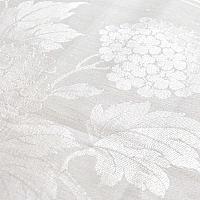 Antique Light Cream Floral Damask Tea Towel Hydrangea
