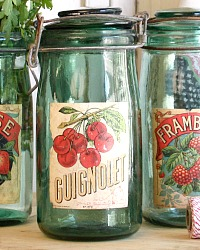 Vintage French Canning Jar Guignolet