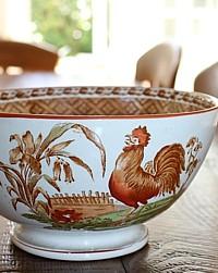 Antique 19th Century Faience Bowl Haan Regout