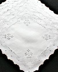 Vintage Hand Embroidered Linen Napkins Floral Set of 6