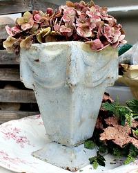 Antique French Art Deco Memorial Draped Urn