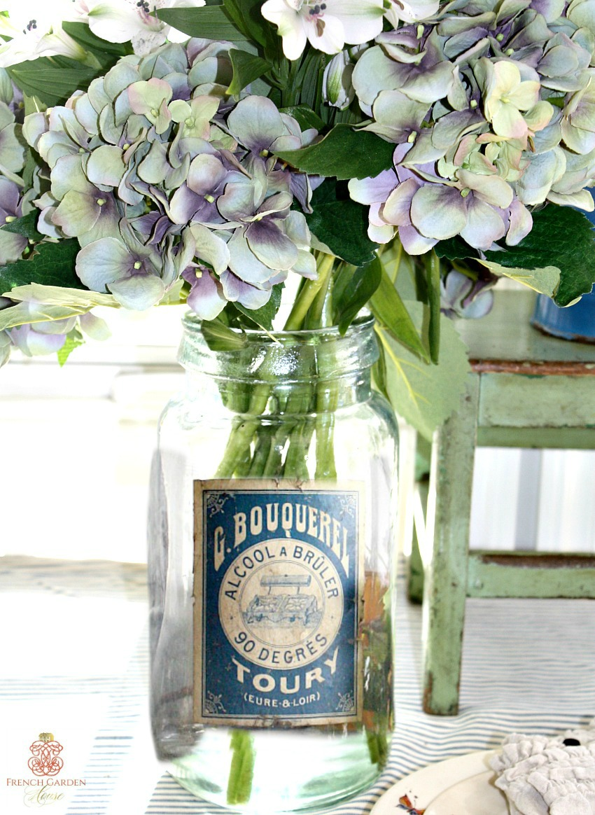 French Apothecary Glass Storage Jar Bouquerel