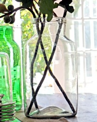 Large Antique French Country Glass Pickling Storage Jar
