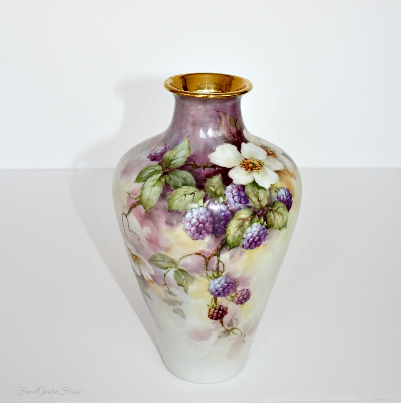 Antique French Limoges Hand Painted Signed Porcelain Vase