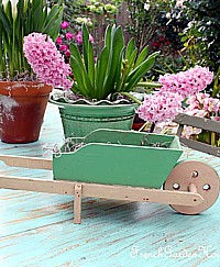 Antique French Child's Toy Garden Wheelbarrow