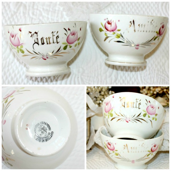 Antique Wedding Gifts: Antique Porcelain French Wedding Gift Cafe Au Lait Bowls
