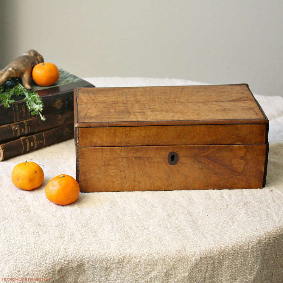 Antique French Country Wood Dresser Box
