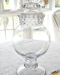 Antique Apothecary Candy Globe Display Jar