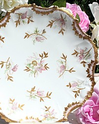Antique French Limoges Hand Painted Floral Cabinet Plate Klingenberg & Dwenger