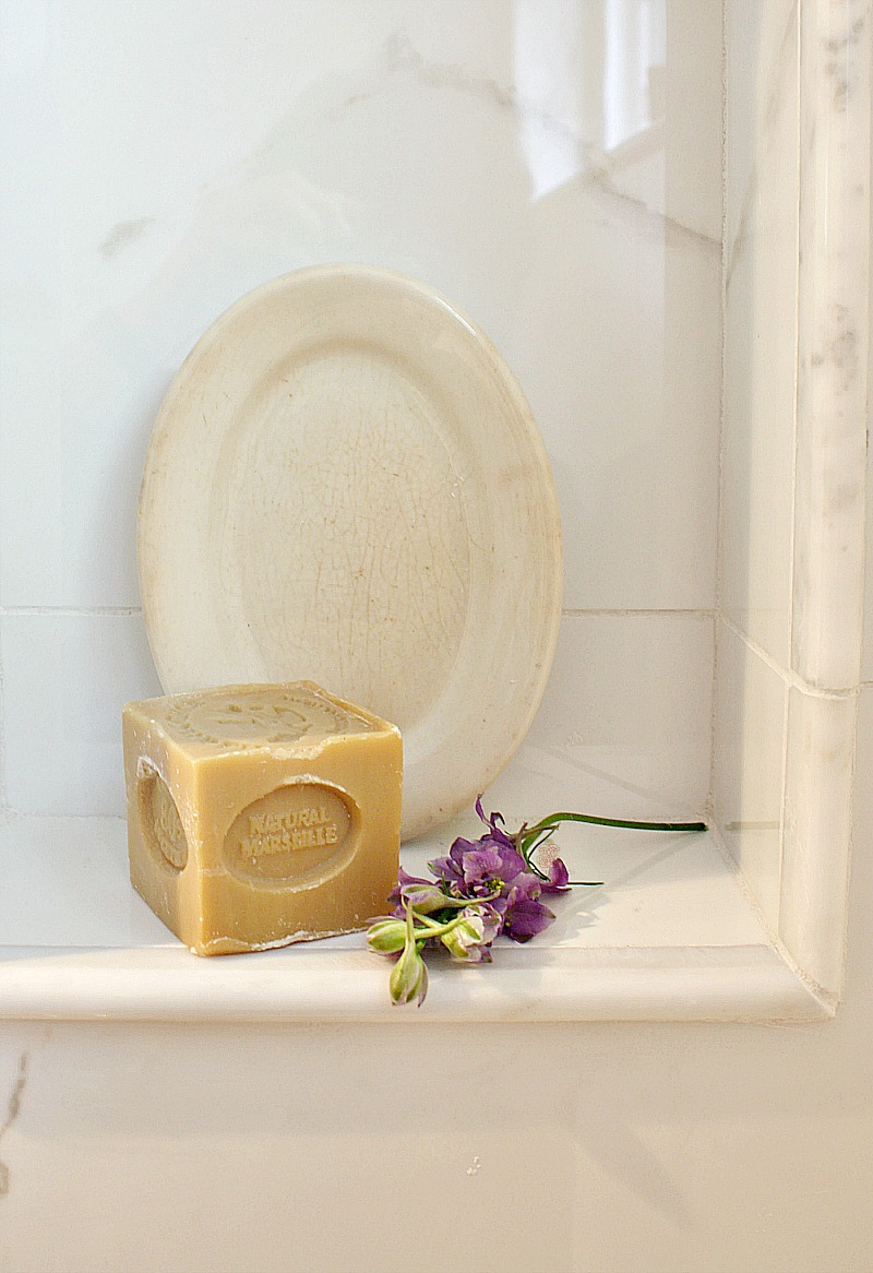 French Marseille Soap and Ironstone Hotel Soap Dish Set M
