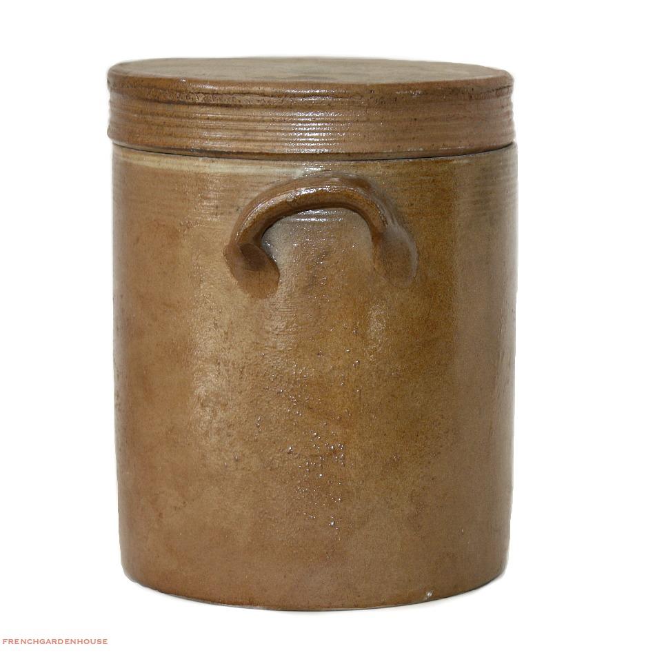 Antique French Stoneware Preserving  Storage Jar
