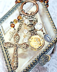 French Joan of Arc Cross Necklace