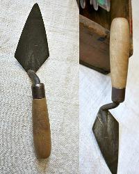 Antique Estate Gardener's Metal and Wood Trowel