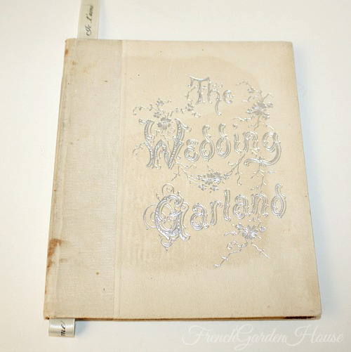 Antique Wedding Garland Poetry Marriage Book Color Chromolithographs