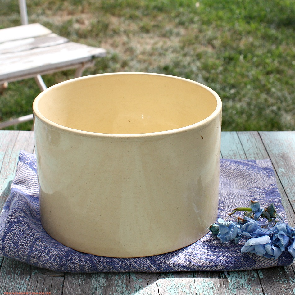 Antique French Yellow Confiture Pot
