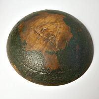 Antique Green Painted Wood Bowl